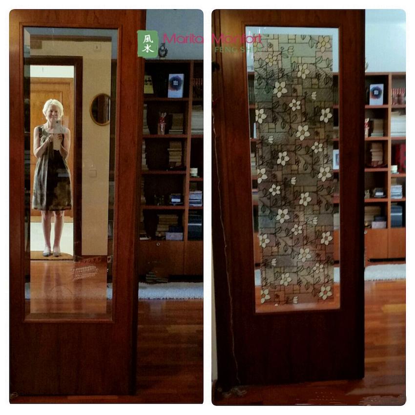 algunas personas me preguntan si pueden colocar un espejo en frente de la puerta de entrada a la vivienda